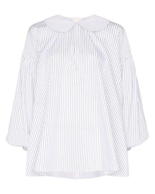 ShuShu/Tong Camisa a rayas de mujer de color azul
