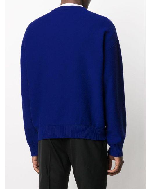 メンズ Versace メデューサ プルオーバー Blue