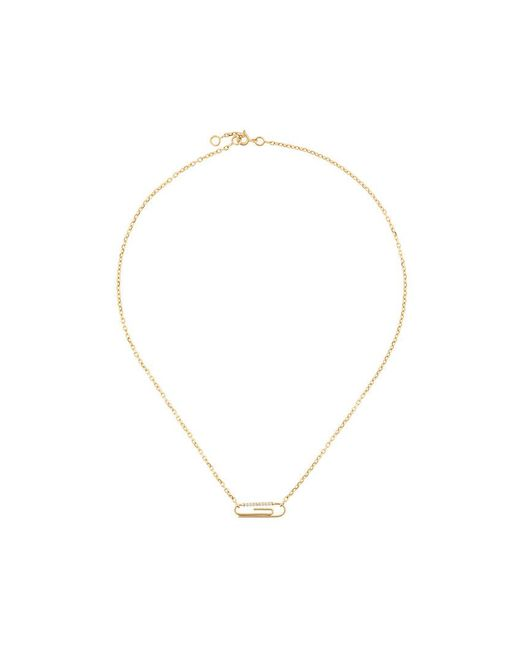Aurelie Bidermann | Metallic Paperclip Diamond Necklace | Lyst