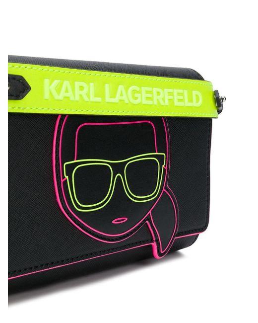 Karl Lagerfeld K/ikonik ショルダーバッグ Black