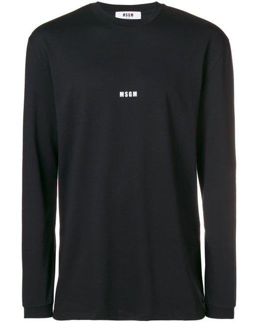 メンズ MSGM ロゴtシャツ Black