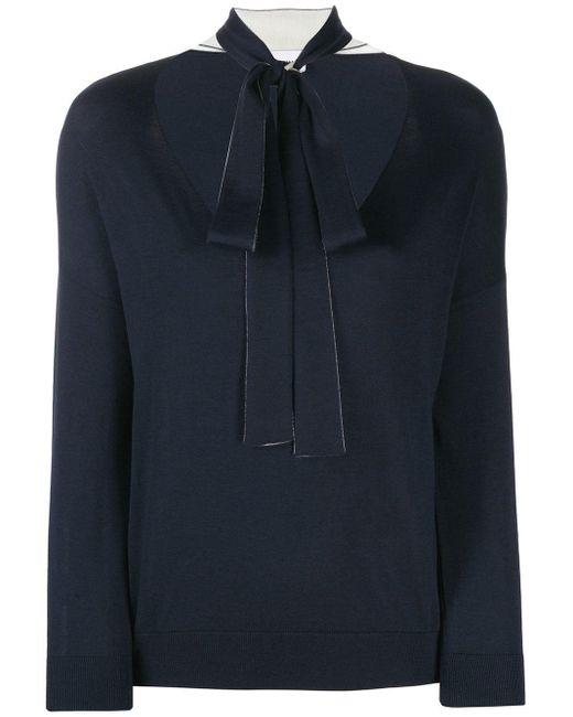 RED Valentino Blue Pullover mit Schleife