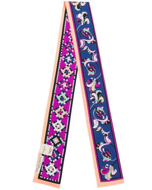 Emilio Pucci フローラルプリント スカーフ Multicolor