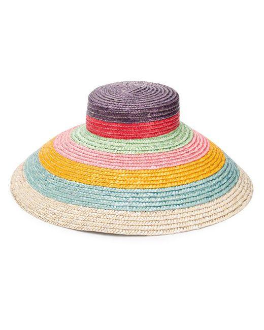 Cappello estivo a righe di Missoni in Pink
