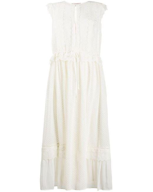 Twin Set アイレットレース ドレス White