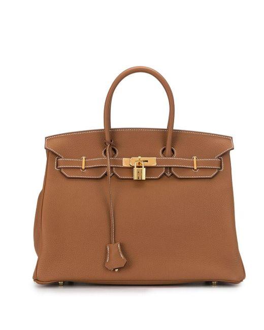 Hermès プレオウンド バーキン 35 ハンドバッグ Brown