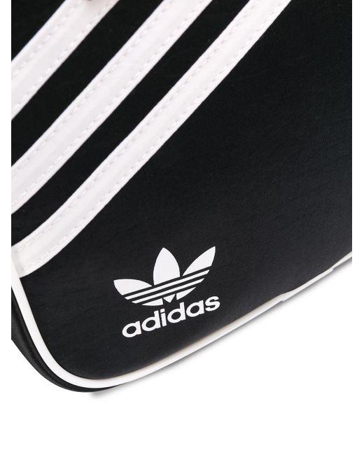 Adidas ロゴ ストライプ バックパック Black