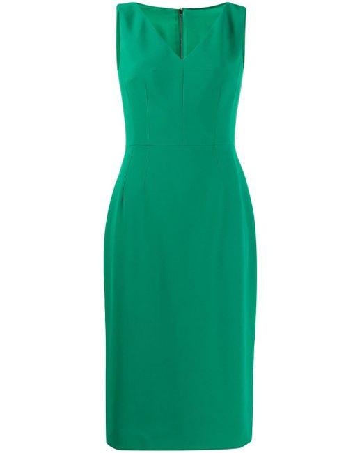Dolce & Gabbana Vネック ドレス Green