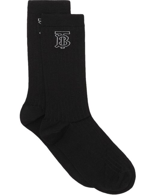 Burberry モノグラム靴下 Black