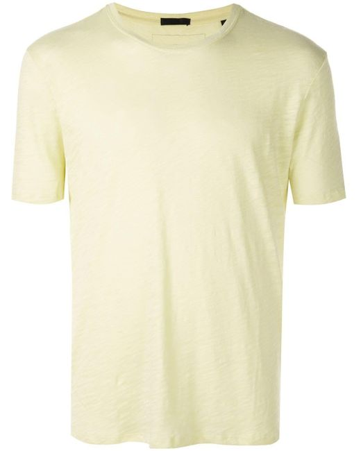 ATM Yellow Round Neck T-shirt for men