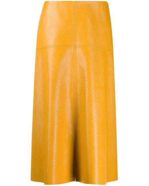 Stella McCartney アニマルフリーレザースカート Yellow