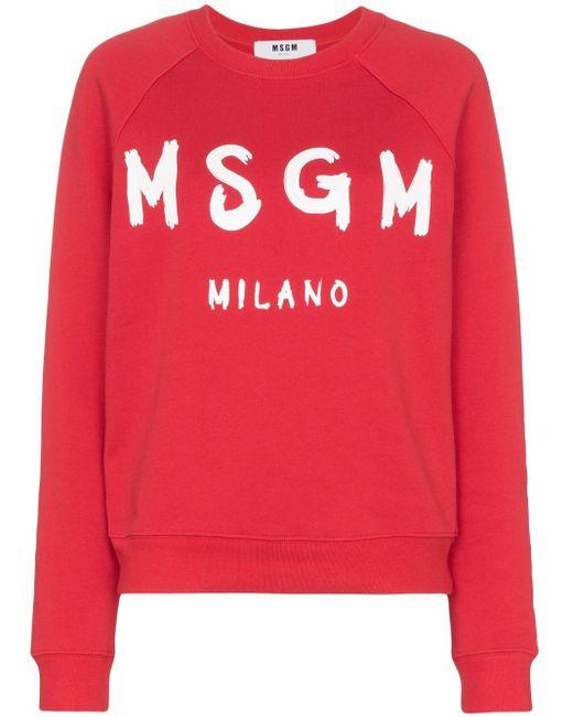 Толстовка С Логотипом MSGM, цвет: Red