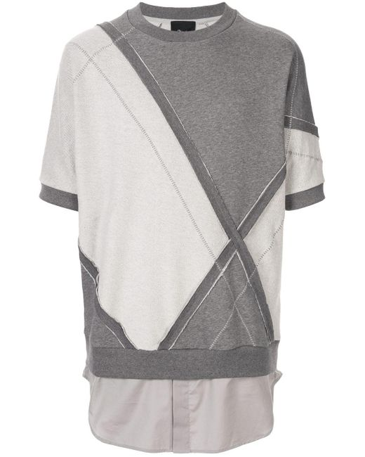 メンズ 3.1 Phillip Lim パッチワーク スウェットシャツ Gray