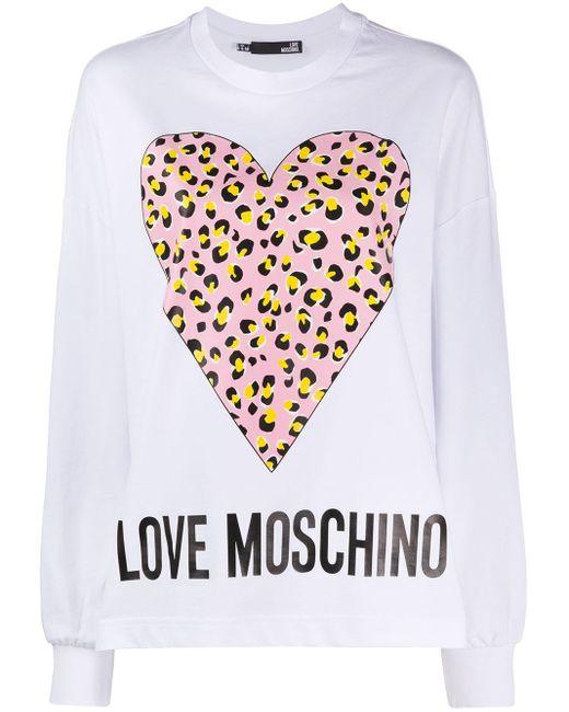 Love Moschino ロゴ スウェットシャツ White