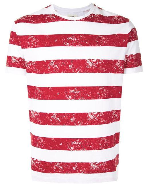 メンズ Kent & Curwen ストライプ Tシャツ Red