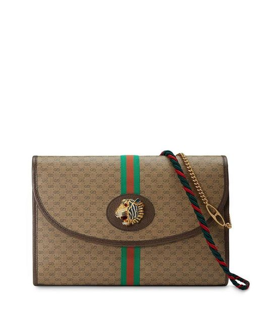 0e7c60e9c9e Gucci - Brown Rajah GG Medium Shoulder Bag - Lyst ...