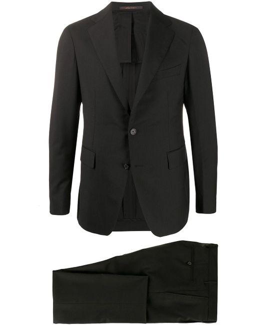 Tagliatore Black Vesuvio Two Piece Suit for men
