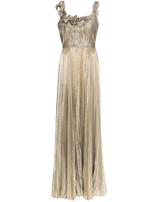 Oscar de la Renta フローラル イブニングドレス Multicolor