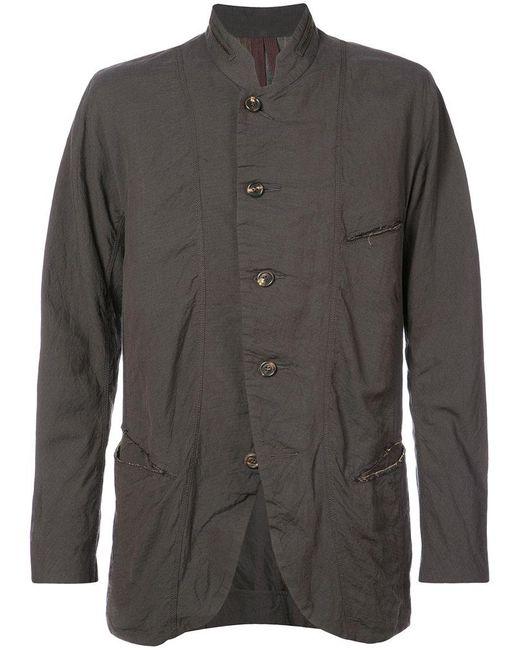 Ziggy Chen - Black Round Neck Buttoned Jacket for Men - Lyst