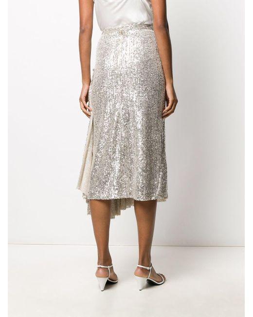 Rochas スパンコール ドレープスカート Multicolor