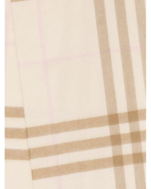 Pashmina con motivo de cuadros Burberry de color Brown