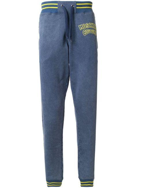 メンズ Moschino Couture ロゴ トラックパンツ Blue