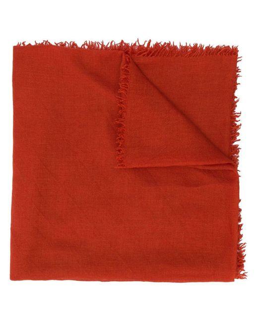 Faliero Sarti ライトウェイト スカーフ Red