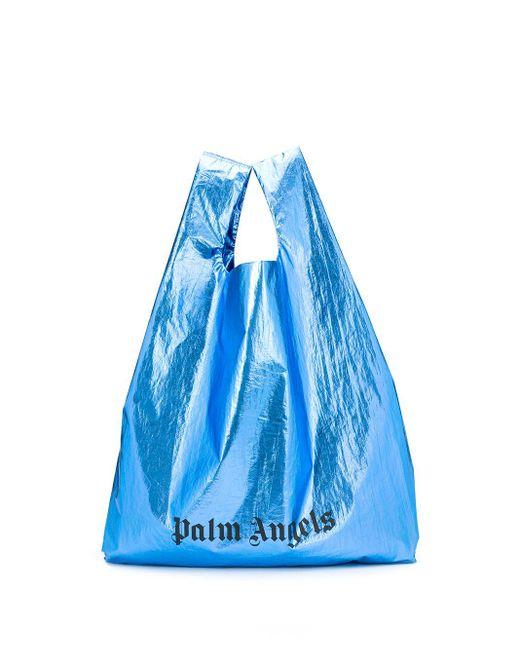 Palm Angels ロゴ トートバッグ Blue