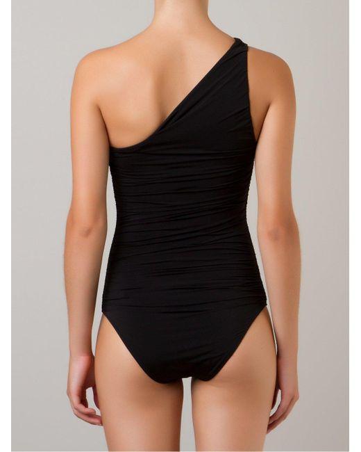 Слитный Купальник На Одно Плечо Brigitte Bardot, цвет: Black