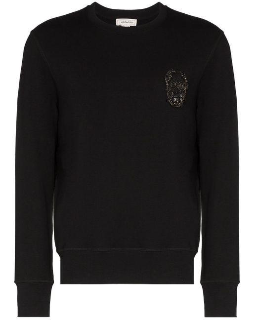 メンズ Alexander McQueen スカルロゴ スウェットシャツ Black