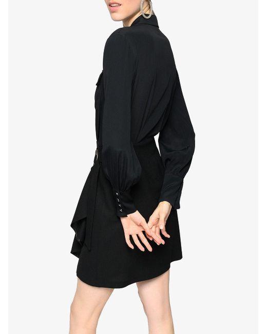 Pinko ベルテッド シャツドレス Black