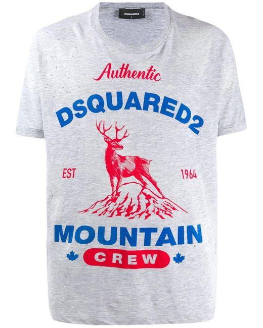 メンズ DSquared² ダメージ Tシャツ Multicolor