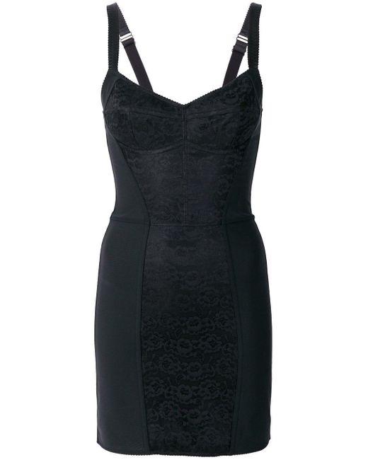 Dolce & Gabbana レースパネル ドレス Black