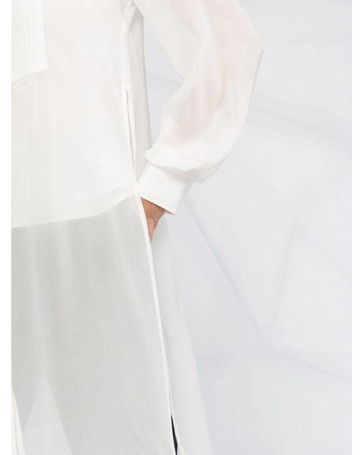 Karl Lagerfeld シアーシャツ White