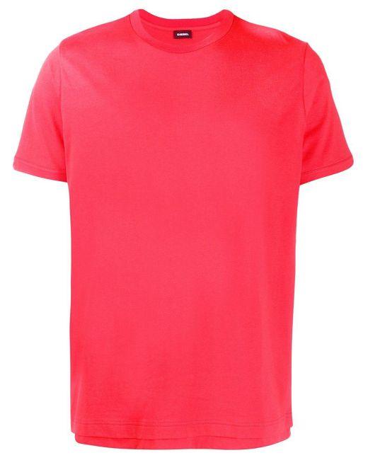 メンズ DIESEL ダブルヘム Tシャツ Pink