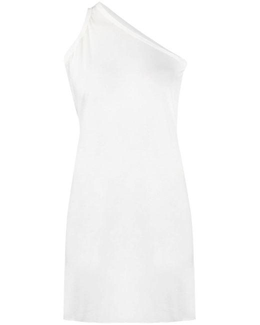 Rick Owens White One-shoulder Long-length Vest