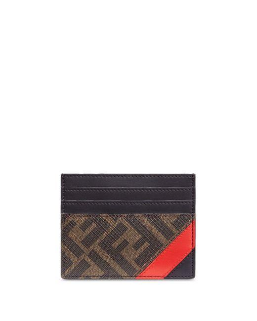 Porte-cartes à logo monogrammé Fendi pour homme en coloris Brown