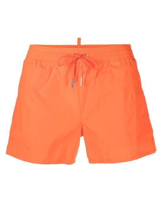 メンズ DSquared² Taormina ロゴ トランクス水着 Orange