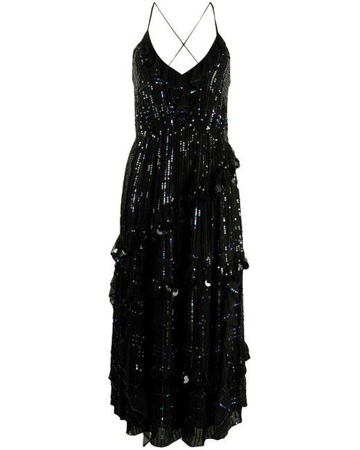 Temperley London スパンコール Vネック ドレス Blue
