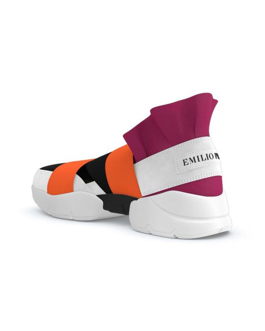 Emilio Pucci Leather City Up Slip on Sneakers Lyst
