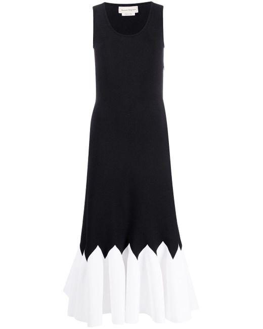 Плиссированное Платье Без Рукавов Alexander McQueen, цвет: Black