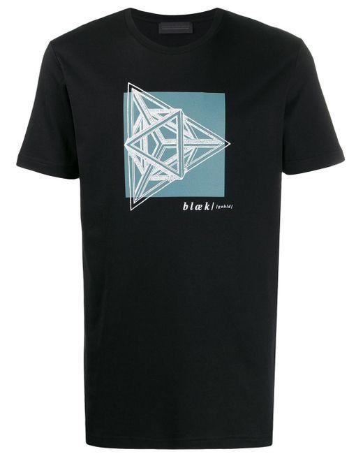 メンズ Diesel Black Gold プリント Tシャツ Black