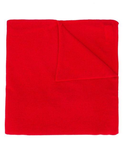 Allude ファインニット スカーフ Red