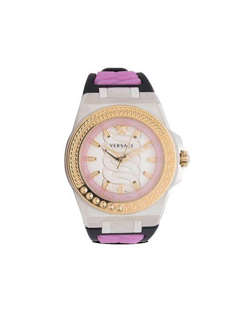 Versace Chain Reaction 40mm 腕時計 Metallic