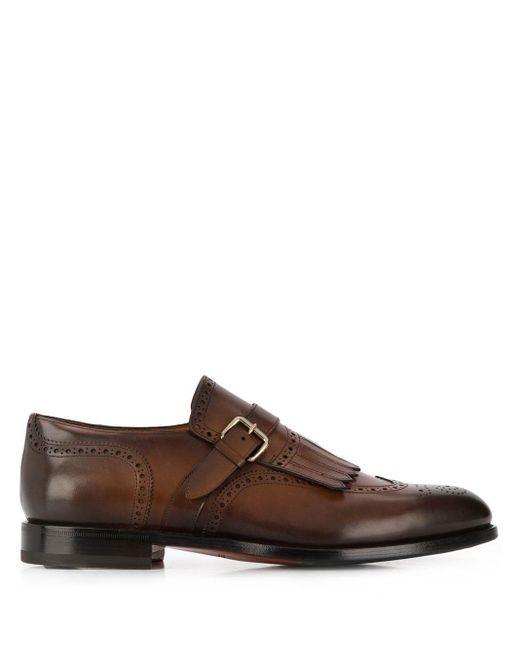 Santoni Monk-Schuhe mit Schnalle in Brown für Herren