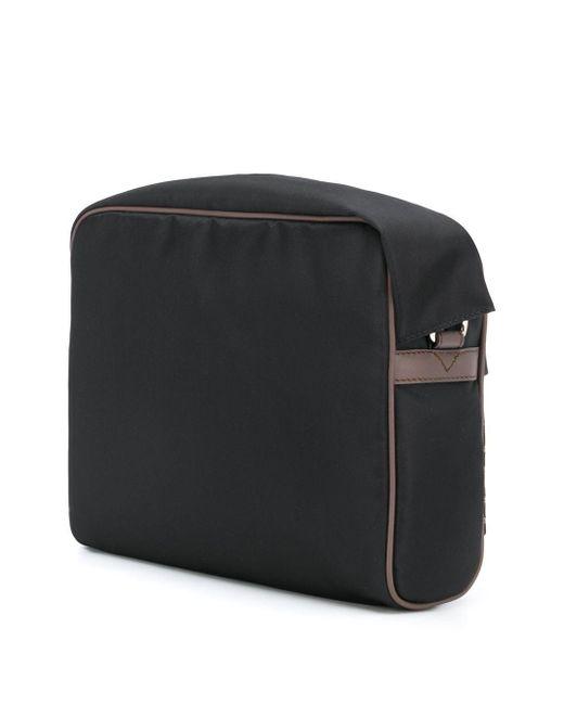 メンズ Fendi モノグラム カラーブロック メッセンジャーバッグ Black