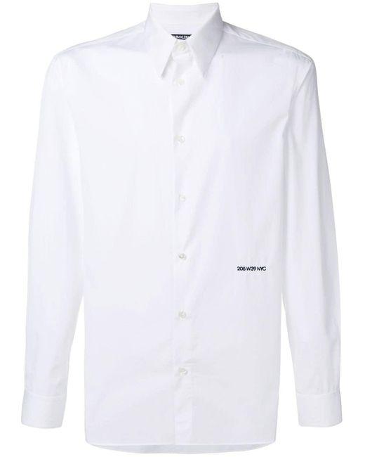メンズ CALVIN KLEIN 205W39NYC エンブロイダリーロゴ シャツ White