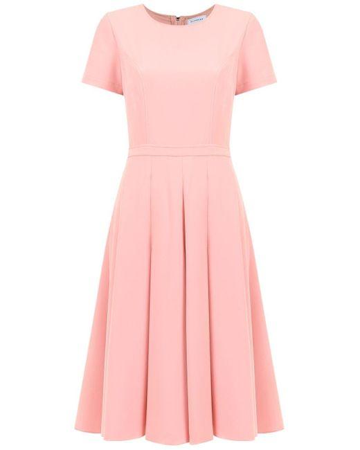 Spezzia flared dress Olympiah en coloris Pink
