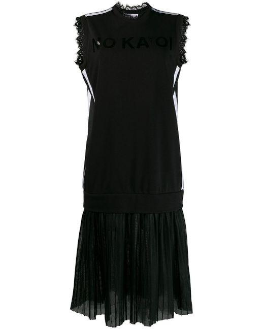 No Ka 'oi Black Layered Jersey Dress