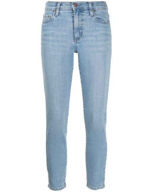 Nobody Denim Blue Cult Skinny Cropped Jeans